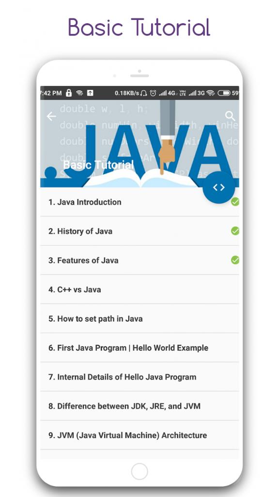 دانلود Learn Java Pro 1.1 - برنامه یادگیری حرفه ای زبان جاوا اندروید