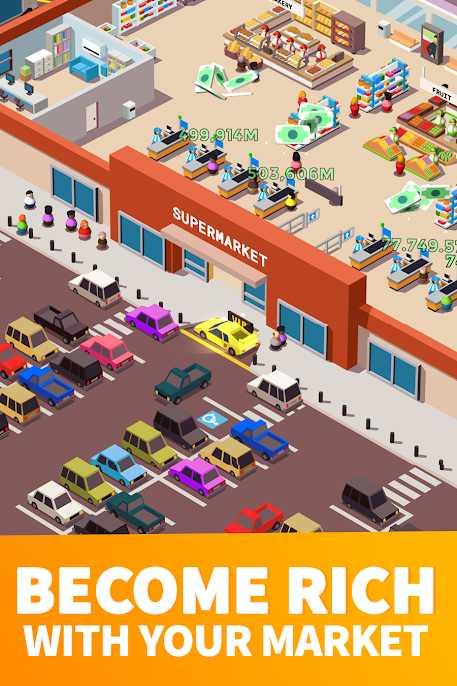 دانلود Idle Supermarket Tycoon 2.3.3 - بازی شبیه سازی سوپرمارکت اندروید