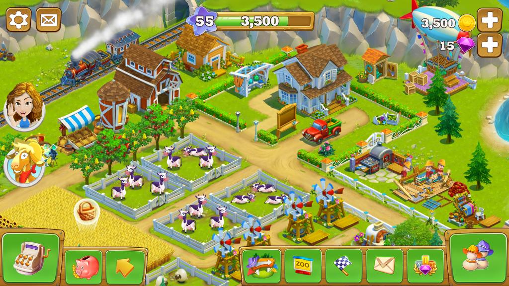 دانلود Golden Farm 2.5.20 – بازی سرگرم کننده مزرعه طلایی برای اندروید