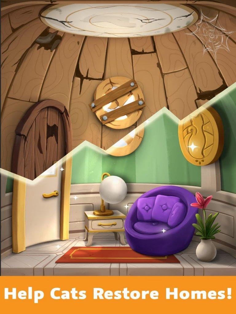 دانلود Cat Home Design 1.81 - بازی تفننی خلاقانه طراحی خانه گربه ها اندروید