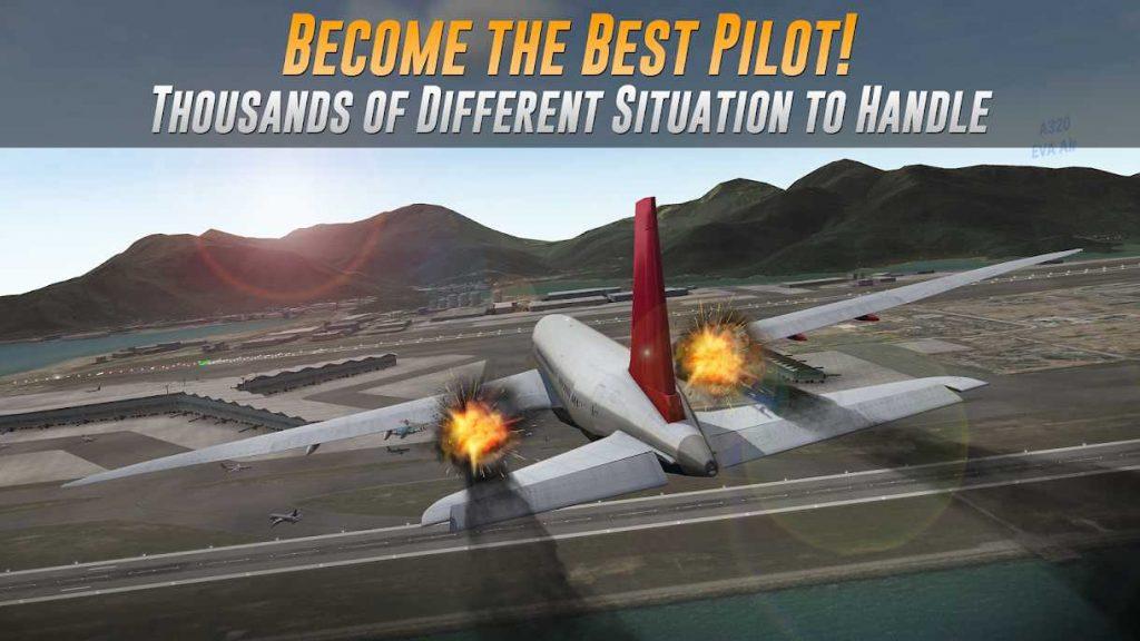 دانلود Airline Commander - A real flight experience 1.4.0 - بازی خلبانی با هواپیمای مسافربری اندروید