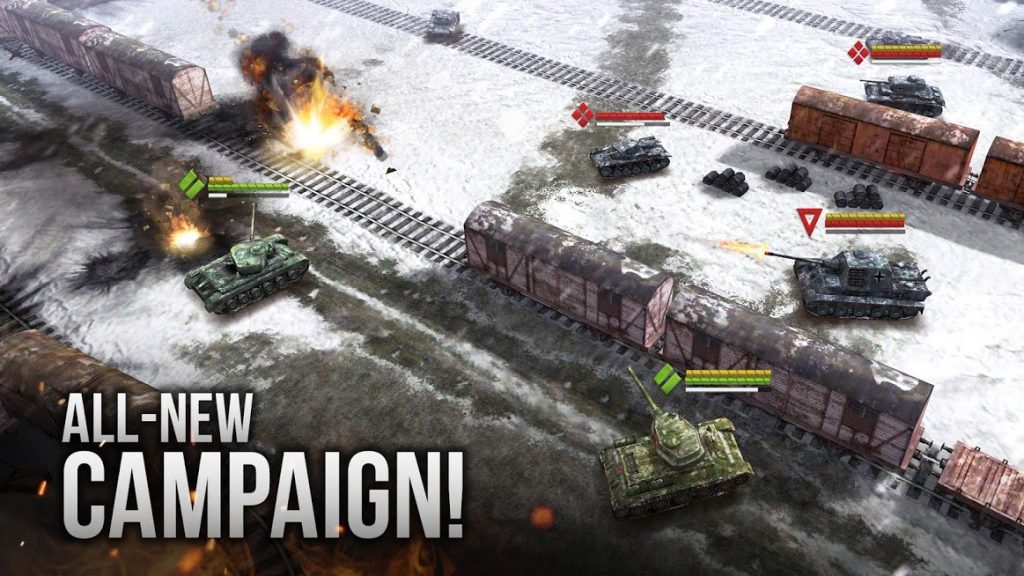 دانلود Armor Age: Tank Wars 1.18.311 - بازی استراتژیکی  تاکتیک های نبرد جنگ افکن WW2  اندروید
