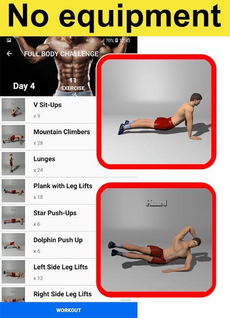 دانلود Home Workouts Gym Pro (No ad) 112.91 - برنامه تمرینی بدنسازی خانگی اندروید