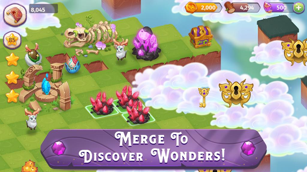 دانلود Merge Magic! 2.9.0 - بازی پازلی باغ جادویی اندروید