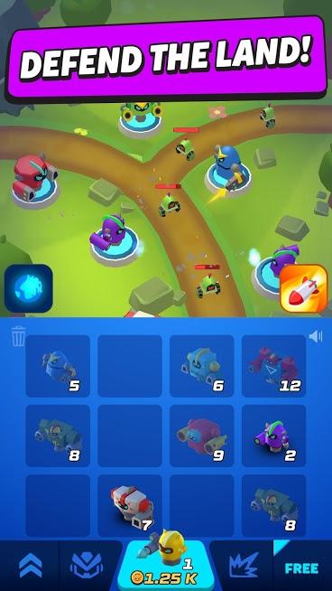 دانلود Merge Tower Bots 4.4.0 بازی اکشن ادغام برج ها اندروید