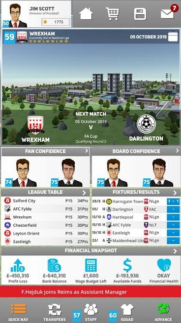 دانلود 1.2.5 Club Soccer Director 2022 - بازی مدیر باشگاه فوتبالی اندروید