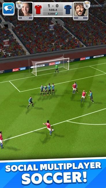 دانلود Score! Match 2.21 - بازی فوتبالی آنلاین برای اندروید