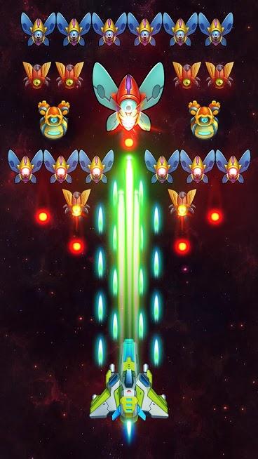 دانلود Galaxy Invaders: Alien Shooter v1.10.4 - بازی مهاجمان کهکشان اندروید