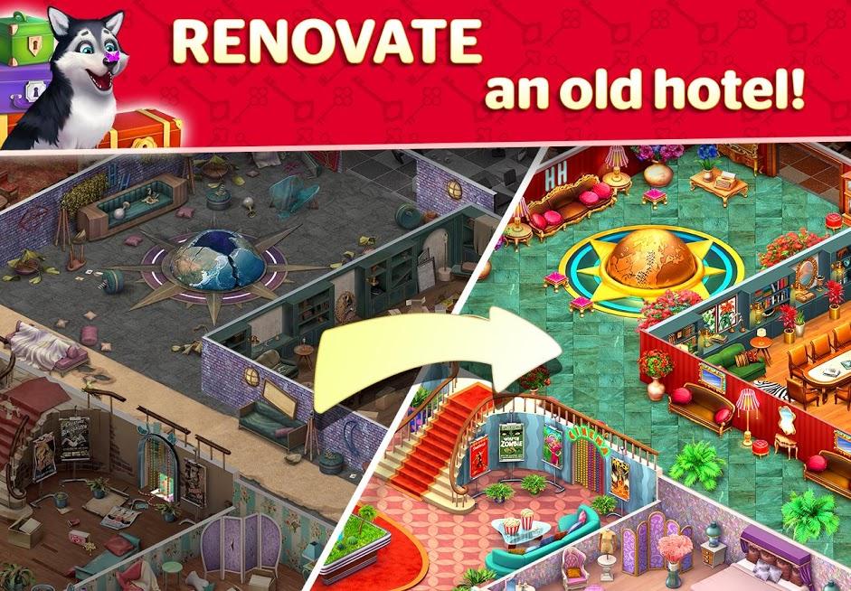 دانلود Hotel Blast 1.15.0 - بازی جذاب مدیریت هتل برای اندروید
