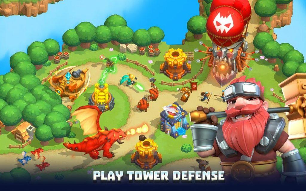 دانلود 3D Wild TD: Tower Defense 1.55.5 – بازی استراتژیکی قلمرو آسمانی اندروید