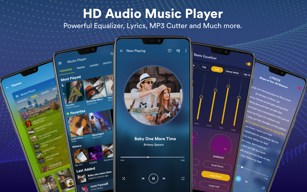 دانلود Audio Beats – Music Player Full v6.6.8 - موزیک پلیر کاربردی برای اندروید