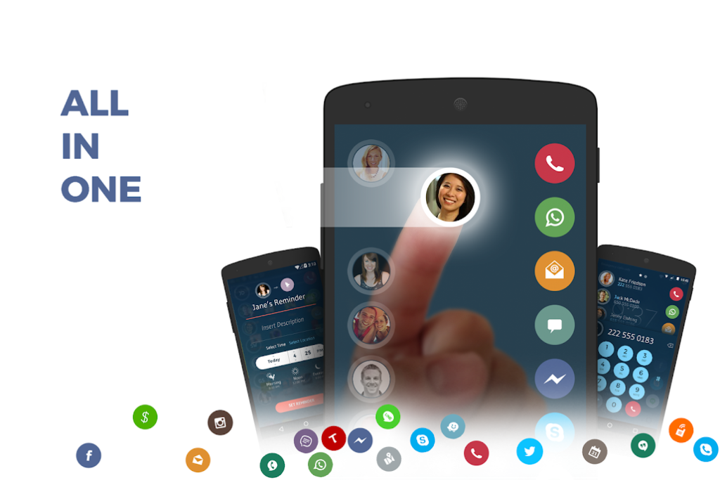 دانلود Contacts Phone Dialer: drupe 3.4.6-Rel - برنامه مدیریت تماس همه کاره اندروید