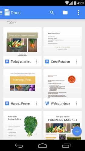 دانلود Google Docs 1.21.062.03 - برنامه رسمی اسناد گوگل برای اندروید