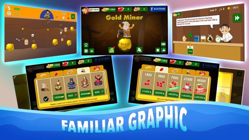 دانلود Gold Miner Classic: Gold Rush 2.6.3 – بازی آرکید معدنچی طلا اندروید