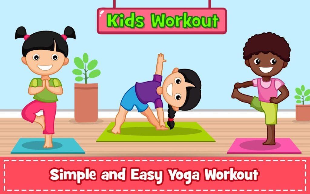دانلود Yoga for Kids and Family fitness – Easy Workout 2.30 – برنامه یوگا کودکان مخصوص اندروید