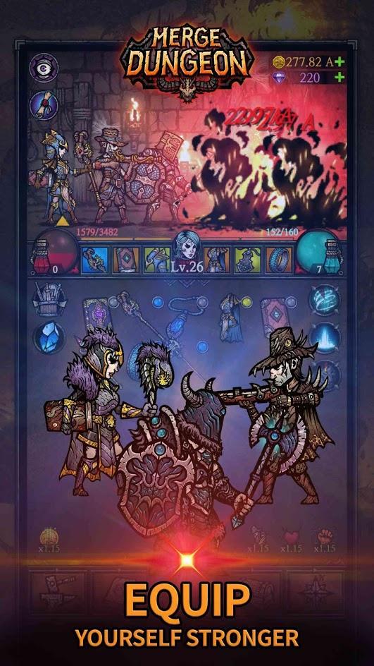 دانلود Merge Dungeon 2.6.0 – بازی نقش آفرینی ترکیب در سیاهچال اندروید